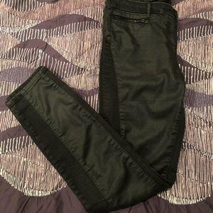 3x1 W1 sz28 black coated skinny jeans